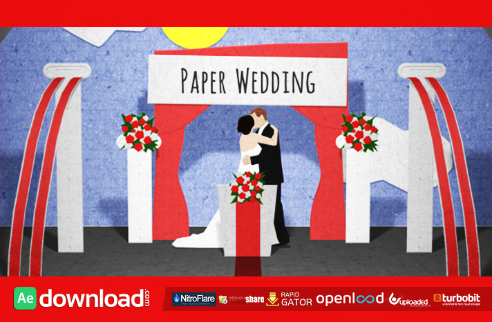 Paper Wedding Opening free download (videohive template)