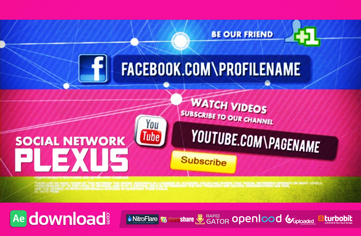 Social Network free download (videohive template)