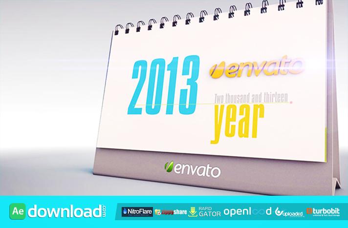 The Desk Calendar free download (videohive template)