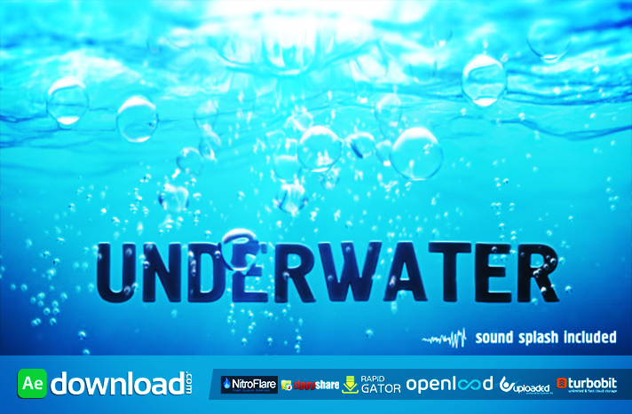 Underwater free after effects templates