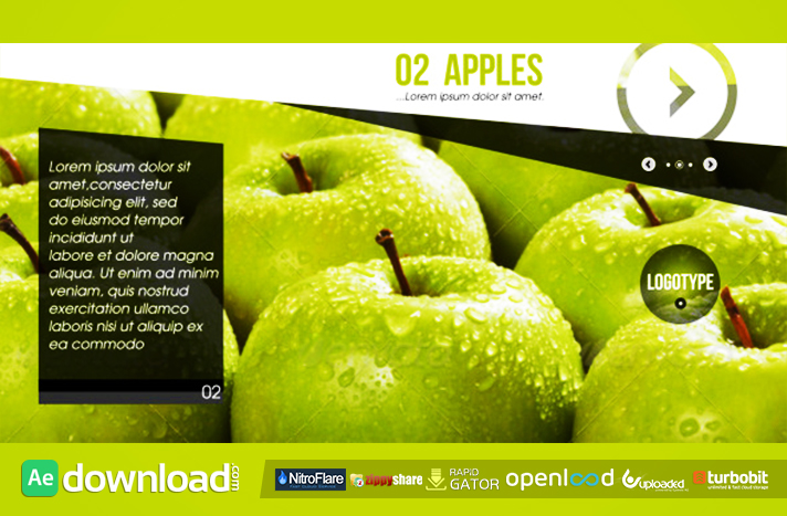 Fruits Slideshow free download (videohive template)