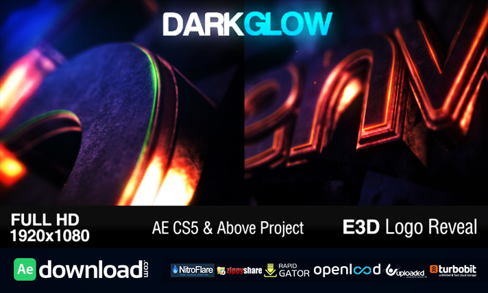 Dark Glow Logo Reveal