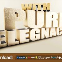 HUGE ELEGANT 3D TITLES – FREE AFTER EFFECTS PROJECT (VIDEOHIVE)