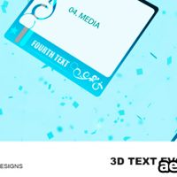 3D-TEXT EVOLUTIONS V2 – AFTER EFFECTS PROJECT (VIDEOHIVE)