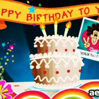 BIRTHDAY CARD POP UP V1 – PROJECTS FOR AFTER EFFECTS (VIDEOHIVE)
