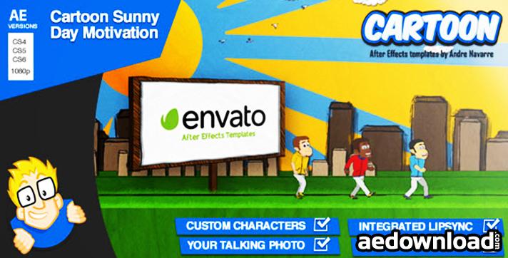 Cartoon Sunny Day Motivation