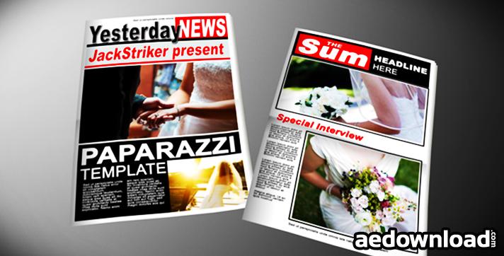 Paparazzi Tabloid Newspaper