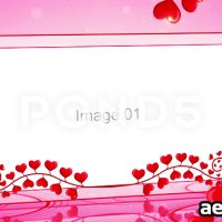ROMANTIC HEARTS LOVE SLIDESHOW – AFTER EFFECTS TEMPLATE (POND5)