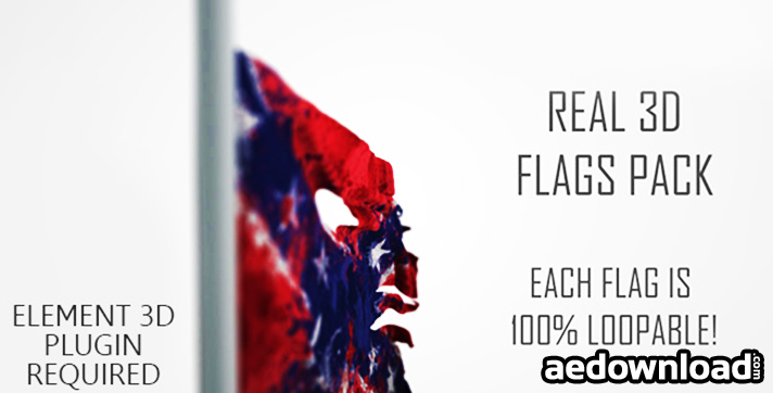 Real 3D Flags pack