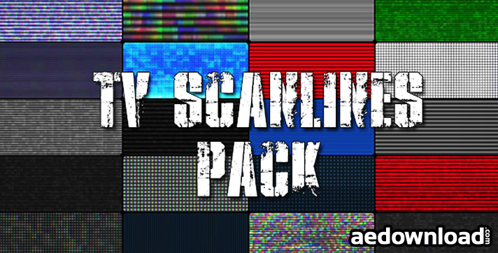 TV Scanlines with Distortion Overlays