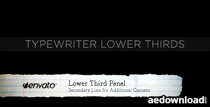 Typewriter Lower Thirds