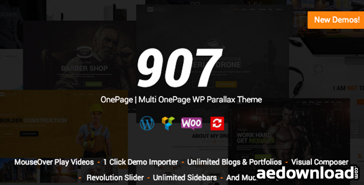 907 v4.3 – Responsive WP One Page – Multi One Page Parallax