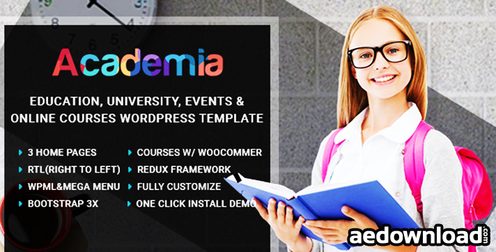 Academia v1.0 – Education Center WordPress Theme