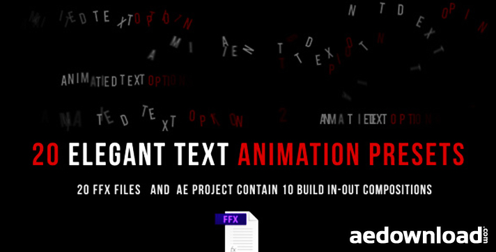 after effects cs4 text animation presets free download