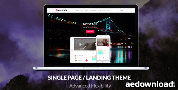 AppStack v1.2.8 – One Page App Theme