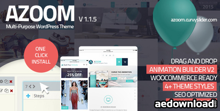 Azoom v1.4 – Multi-Purpose Theme with Animation Builder