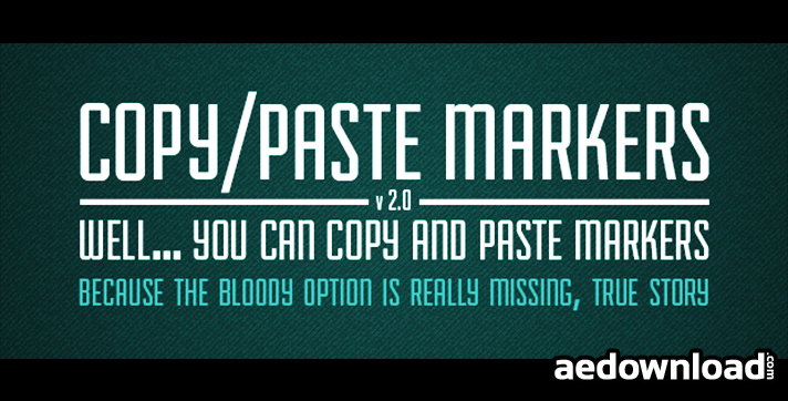 COPY PASTE MARKERS 2 (AESCRIPTS)