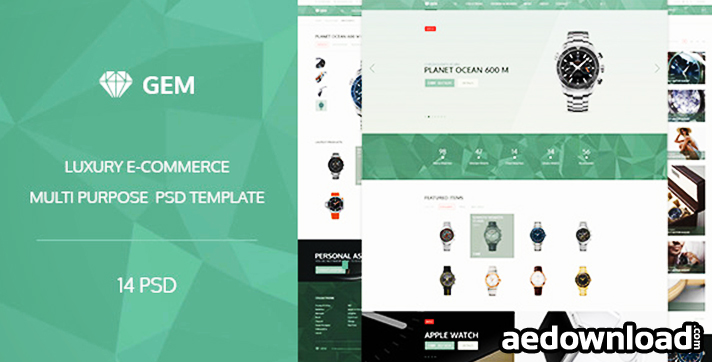 Gem – Luxury E-Commerce PSD theme
