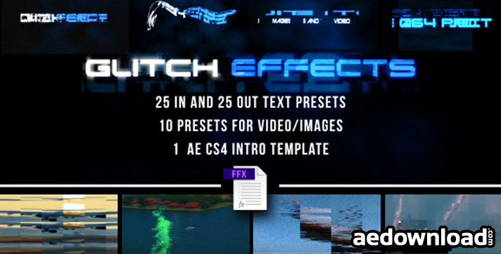 Glitch Presets for Text and Video