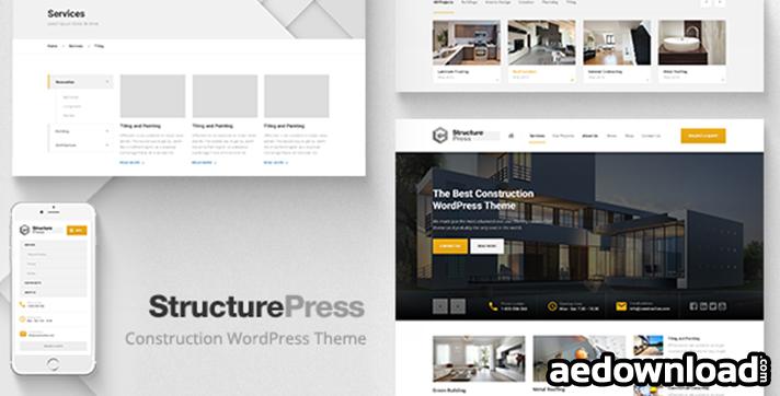 StructurePress v1.5 – Construction, Building WP Theme