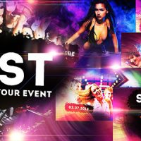 VIDEOHIDE COLOURFUL PARTY/EVENT – DISCO NIGHT CLUB PROMO – AFTER EFFECTS TEMPLATES