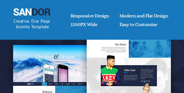 Sandor V1 0 Creative One Page Joomla Template 3 4 X Free Download Free After Effects Template Videohive Projects