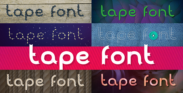 Tunable Tape Font