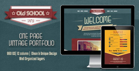 One-Page-PSD-Vintage-Portfolio-Old-School