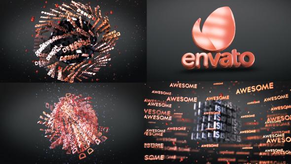 3D Text Shapes Logo Reveal 7646010