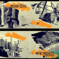 VIDEOHIVE BRUSH SLIDE FREE DOWNLOAD AFTER EFFECTS TEMPLATE