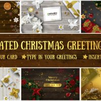 VIDEOHIVE 6 CHRISTMAS GREETING CARDS FREE DOWNLOAD