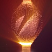 VIDEOHIVE SHINY LOGO WITH ELEGANT FINE PARTICLES