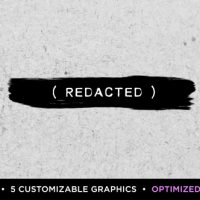 VIDEOHIVE REDACTED TITLES   MOGRT FOR PREMIERE PRO