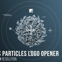 VIDEOHIVE NUMBERS PARTICLES LOGO OPENER
