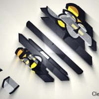 VIDEOHIVE CLEAN LOGO V4 – 3D