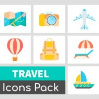 VIDEOHIVE ANIMATED TRAVEL ICONS PACK