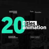 VIDEOHIVE 20 ANIMATED TITLES 22600140