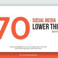 VIDEOHIVE SOCIAL MEDIA LOWER THIRDS 24493898