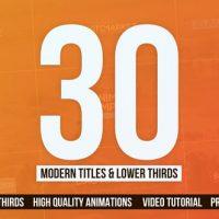 VIDEOHIVE 30 MODERN TITLES & LOWER THIRDS – MOGRT – PREMIERE PRO